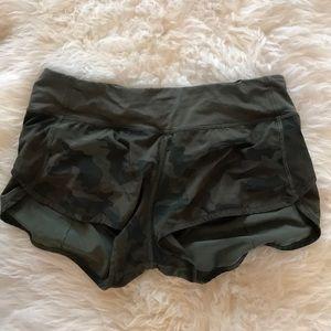 Lululemon camo running shorts